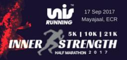 5K- INNER STRENGTH HALF MARATHON 2017-Sep 17, 2017 , 6:00 AM to 7:30 AM  - Chennai