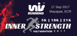 10K- INNER STRENGTH HALF MARATHON 2017-Sep 17, 2017 , 5:30 AM to 8:00 AM  - Chennai