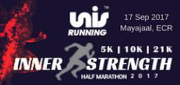 Inner Strength Half Marathon 2017 - Sep 17, 2017 , 4:15 AM to 8:00 AM  - Chennai