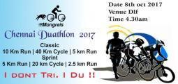 Chennai Duathlon 2017 - Oct 8, 2017 , 4:30 AM to 6:00 AM  - Chennai