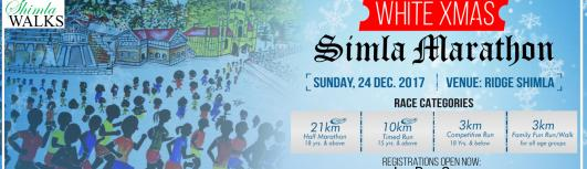 White XMas Marathon Shimla - Sunday December 24th, 2017 , 6:30 AM to 10:00 AM  - Shimla
