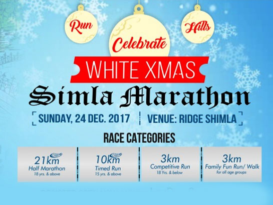 White XMas Marathon Shimla-Dec 24, 2017 , 6:30 AM to 10:00 AM  - Shimla