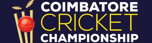 COIMBATORE CRICKET CHAMPIONSHIP - 2K17 - Thursday August 3rd, 2017 to Friday August 25th, 2017 12:00 PM  Onwards - Coimbatore