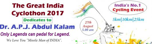 The Great India Cyclothon 2017 - Sunday September 10th, 2017 , 4:00 AM to 9:00 AM  - Chennai