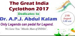 The Great India Cyclothon 2017-Aug 27, 2017 , 4:00 AM to 9:00 AM  - Chennai
