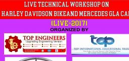 LIVE TECHNICAL WORKSHOP ON HARLEY DAVIDSON BIKE AND MERCEDES GLA CAR (LIVE-2017)-Aug 19, 2017 9:30 AM  Onwards - Chennai