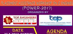 PLACEMENT ASSISTANCE WORKSHOP ON IC ENGINES (POWER-2017)-Aug 27, 2017 9:30 AM  Onwards - Chennai