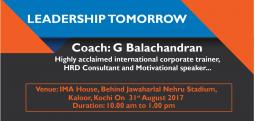 Leadership Tomorrow-Aug 31, 2017 , 10:00 AM to 1:00 PM  - Kochi