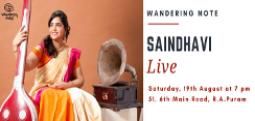 Saindhavi Live - Aug 19, 2017 , 7:00 PM to 8:00 PM  - Chennai