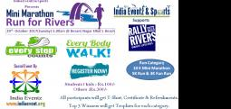 Run for River-Oct 29, 2017 , 5:30 AM to 7:00 AM  - Chennai
