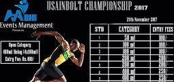 USAIN BOLT Championship 2017-Nov 29, 2017 , 6:00 AM to 10:00 AM  - Chennai