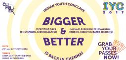 Indian Youth Conclave 2017-Chennai - Sep 23, 2017 to Sep 24, 2017 , 11:00 AM to 9:00 PM  - Chennai
