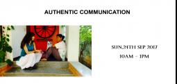 Authentic Communication-Sep 24, 2017 , 10:00 AM to 1:00 PM  - Chennai