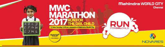 MWC MARATHON 2017 - Sunday November 12th, 2017 , 5:30 AM to 7:00 AM  - Chennai