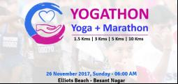 Yogathon (Yoga + Marathon)-Nov 26, 2017 , 6:00 AM to 8:30 AM  - Chennai