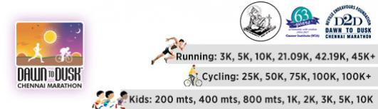 D2D Running+Cycling - Sunday January 7th, 2018 5:00 AM  Onwards - Chennai