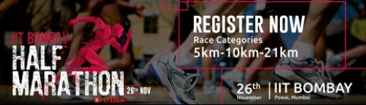 IIT Bombay Half Marathon 2017, organised by Fitizen India - Sunday November 26th, 2017 , 5:30 AM to 10:00 AM  - Mumbai
