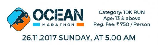 OCEAN MARATHON - Sunday November 26th, 2017 , 5:00 AM to 10:00 AM  - Chennai