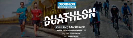 Decathlon Duathlon - Sunday October 29th, 2017 , 6:00 AM to 9:00 AM  - Chennai