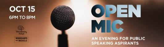 Open Mic - Sunday October 15th, 2017 , 6:00 PM to 8:00 PM  - Chennai