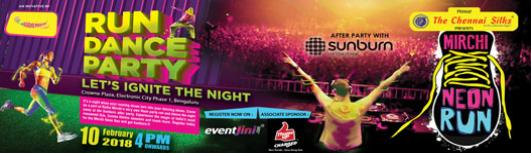 Mirchi Neon Run - Saturday January 13th, 2018  - Bengaluru