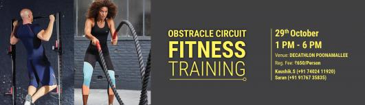 OBSTACLE CIRCUIT - Sunday October 29th, 2017 , 12:00 PM to 7:00 PM  - Chennai