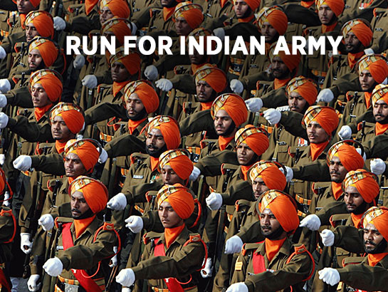 RUN FOR INDIAN ARMY-Dec 3, 2017 , 5:00 AM to 8:00 AM  - Hyderabad