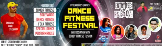 Largest Dance Fitness Festival 2017 Hyderabad - Sunday December 10th, 2017 , 6:30 AM to 9:00 AM  - Hyderabad