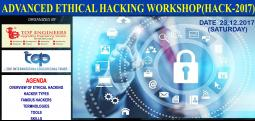 ADVANCED ETHICAL HACKING WORKSHOP(HACK-2017)-Dec 23, 2017 , 9:30 AM to 4:30 PM  - Chennai