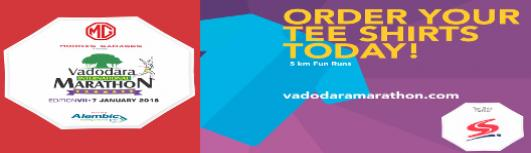 5KM(T-shirt) - Vadodara International marathon - Sunday January 7th, 2018  - Vadodara