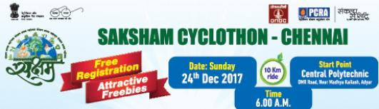 SAKSHAM CYCLOTHON - CHENNAI - Sunday December 24th, 2017 6:00 AM  Onwards - Chennai