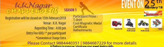 KK Nagar Challengers - Sunday February 25th, 2018 4:00 PM  Onwards - Chennai