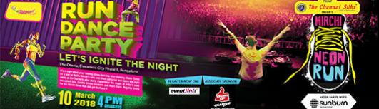 Mirchi Neon Run-Group Registration - Saturday March 10th, 2018 4:00 PM  Onwards - Bengaluru
