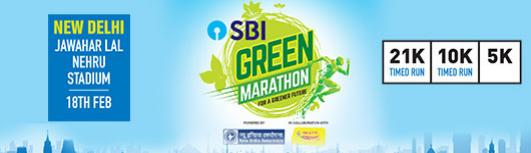 5K Delhi SBI Green Marathon - Sunday March 25th, 2018 5:00 AM  Onwards - Delhi