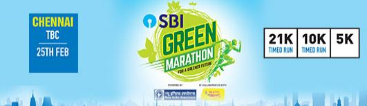 5K Chennai - SBI Green Marathon - Sunday February 25th, 2018 5:00 AM  Onwards - Chennai