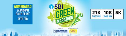5K Ahmedabad - SBI Green Marathon - Sunday February 25th, 2018 5:00 AM  Onwards - Ahmedabad