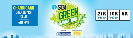 5K Chandigarh - SBI Green Marathon - Sunday March 11th, 2018 5:00 AM  Onwards - Chandigarh