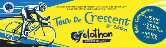 Tour De Crescent - Wednesday April 11th, 2018 5:00 AM  Onwards - Chennai