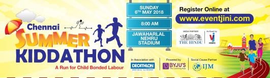 CHENNAI SUMMER KIDDATHON - Sunday May 6th, 2018  - Chennai