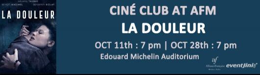 Cineclub:La douleur - Sunday October 28th, 2018 , 7:00 PM to 9:00 PM  - Chennai