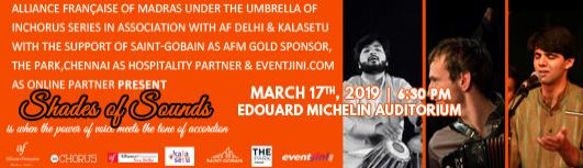 Shades of sound - Sunday March 17th, 2019 , 6:00 PM to 7:00 PM  - Chennai